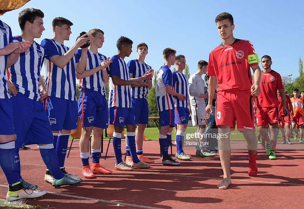 Karim Zagmouz of FC Hertha 03 During the B-juniors cup match between FC Hertha 03 and Hertha BSC on May 5, 2016 in Berlin, Germany.