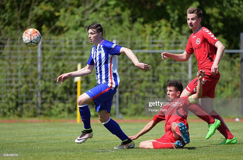Karim Zagmouz of FC Hertha 03 During the B-juniors cup match between FC Hertha 03 and Hertha BSC on May 5, 2016 in Berlin, Germany.