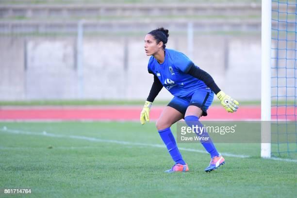 Karima Benameur of Paris FC during the women's Division 1 match between Paris FC and Paris Saint Germain on October 15 2017 in Paris France