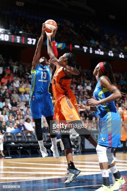 Karima ChristmasKelly of the Dallas Wings shoots the ball against the Connecticut Sun on August 12 2017 at Mohegan Sun Arena in Uncasville CT NOTE TO...