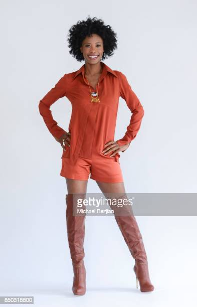 Karimah Westbrook poses for portrait at New Faces At The Artists Project on September 20 2017 in Los Angeles California