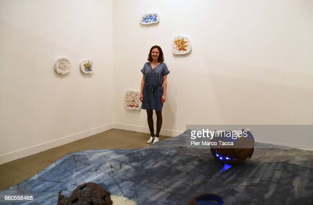 Karin Lehmann poses during the Miart Fair 2017 at Fiera Milano City on March 30 2017 in Milan Italy