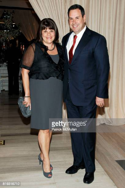Karin Sadove and Steve Sadove attend SAKS FIFTH AVENUE VALENTINO Host a Dinner to benefit SAVE VENICE at Saks Fifth Avenue on April 14 2010 in New...