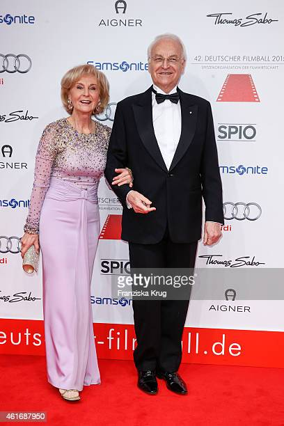 Karin Stoiber and Edmund Stoiber attend the German Film Ball 2015 on January 17 2015 in Munich Germany