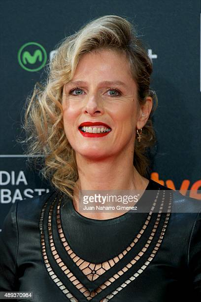 Karin Viard attends '21 Nuits Avec Pattie' premiere during 63rd San Sebastian Film Festival on September 20 2015 in San Sebastian Spain