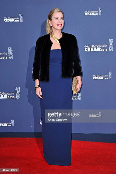 Karin Viard attends the 40th Cesar Film Awards at Theatre du Chatelet on February 20 2015 in Paris France