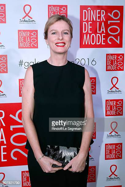 Karin Viard attends the Sidaction Gala Dinner 2016 as part of Paris Fashion Week Held at Pavillon d'Armenonville on January 28 2016 in Paris France