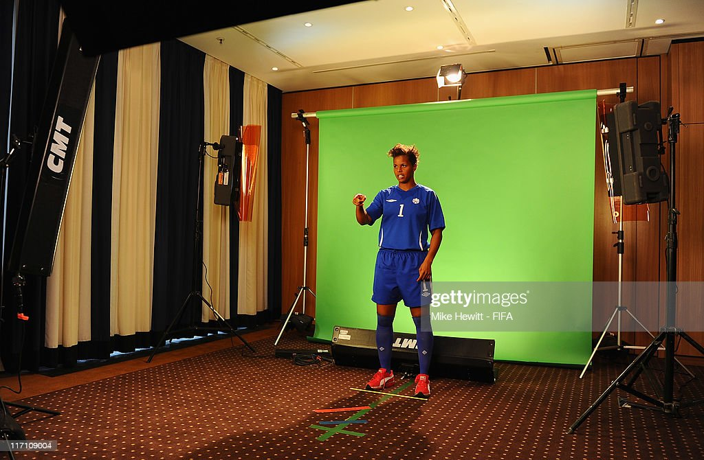 <a gi-track='captionPersonalityLinkClicked' href=/galleries/search?phrase=Karina+LeBlanc&family=editorial&specificpeople=2473661 ng-click='$event.stopPropagation()'>Karina LeBlanc</a> of Canada during the FIFA portrait session on June 22, 2011 in Berlin, Germany.