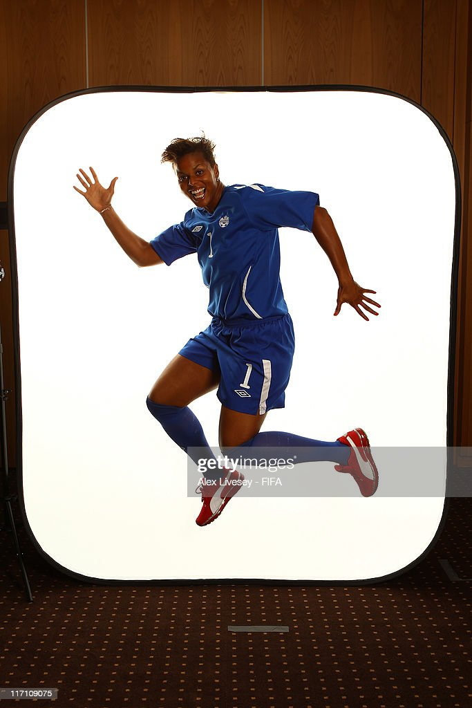 Karina LeBlanc of Canada during the FIFA portrait session on June 22, 2011 in Berlin, Germany.