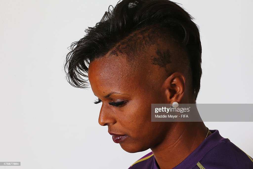 Karina LeBlanc #23 of Canada during the FIFA Women's World Cup 2015 portrait session at the Delta Edmonton South on June 3, 2015 in Edmonton, Canada.