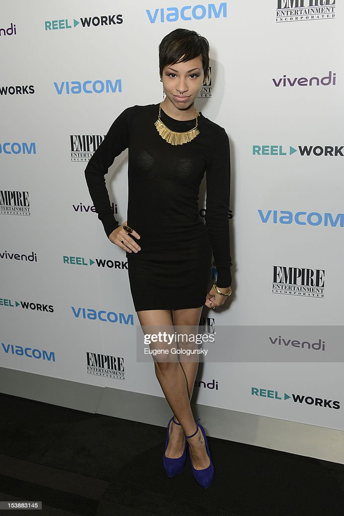 Karina Pasian attends the Reel Works 2012 Gala Benefit at The Edison Ballroom on October 10, 2012 in New York City.