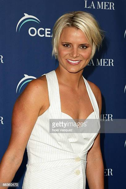 Karina Petroni attends Oceana's celebration of World Oceans Day with La Mer at a private residence on June 8 2009 in Los Angeles California