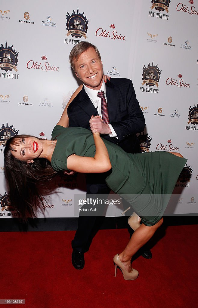 <a gi-track='captionPersonalityLinkClicked' href=/galleries/search?phrase=Karina+Smirnoff&family=editorial&specificpeople=4029232 ng-click='$event.stopPropagation()'>Karina Smirnoff</a> and Sports Agent <a gi-track='captionPersonalityLinkClicked' href=/galleries/search?phrase=Leigh+Steinberg&family=editorial&specificpeople=221448 ng-click='$event.stopPropagation()'>Leigh Steinberg</a> pose at the 2014 <a gi-track='captionPersonalityLinkClicked' href=/galleries/search?phrase=Leigh+Steinberg&family=editorial&specificpeople=221448 ng-click='$event.stopPropagation()'>Leigh Steinberg</a> Super Bowl Party at 230 Fifth Avenue on February 1, 2014 in New York City.