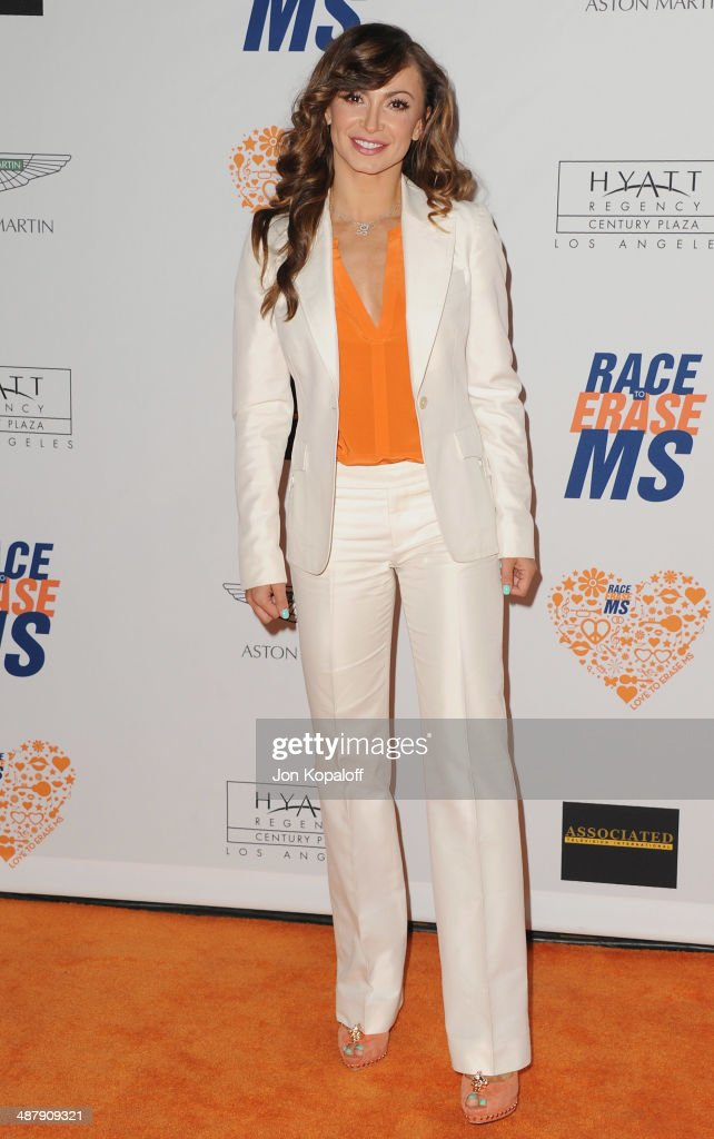 Karina Smirnoff arrives at the 21st Annual Race To Erase MS Gala at the Hyatt Regency Century Plaza on May 2, 2014 in Century City, California.