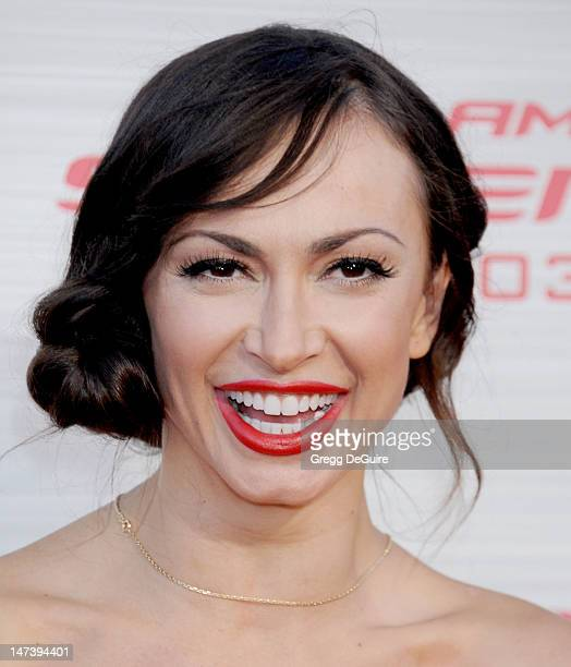 Karina Smirnoff arrives at 'The Amazing Spiderman' Los Angeles Premiere at Regency Village Theatre on June 28 2012 in Westwood California