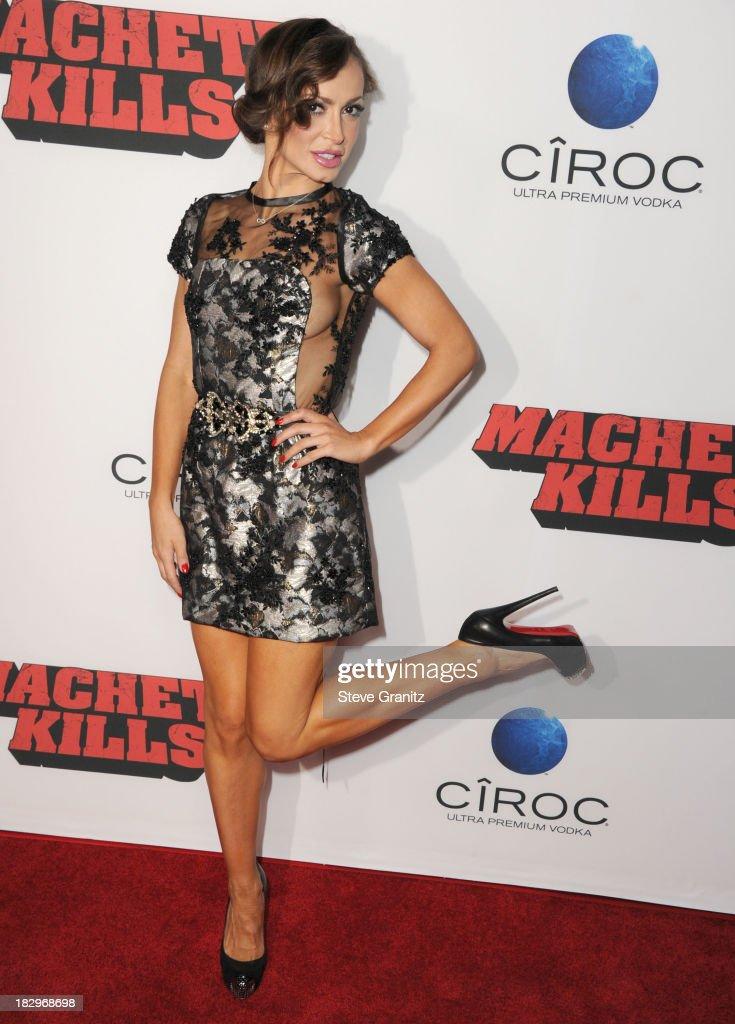 Karina Smirnoff arrives at the 'Machete Kills' - Los Angeles Premiere at Regal Cinemas L.A. Live on October 2, 2013 in Los Angeles, California.