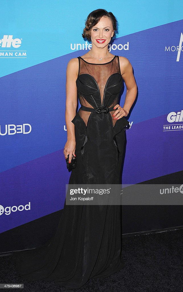 <a gi-track='captionPersonalityLinkClicked' href=/galleries/search?phrase=Karina+Smirnoff&family=editorial&specificpeople=4029232 ng-click='$event.stopPropagation()'>Karina Smirnoff</a> arrives at Unite4good And Variety Host 1st Annual Unite4:humanity Event on February 27, 2014 in Los Angeles, California.