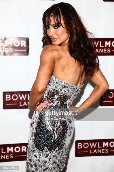 Karina Smirnoff attends Joonbug's End of the Year Bash 2012 with Karina Smirnoff at Bowlmor Lanes Times Square on December 31 2011 in New York City