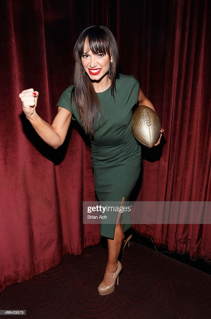 <a gi-track='captionPersonalityLinkClicked' href=/galleries/search?phrase=Karina+Smirnoff&family=editorial&specificpeople=4029232 ng-click='$event.stopPropagation()'>Karina Smirnoff</a> attends the 2014 Leigh Steinberg Super Bowl Party at 230 Fifth Avenue on February 1, 2014 in New York City.