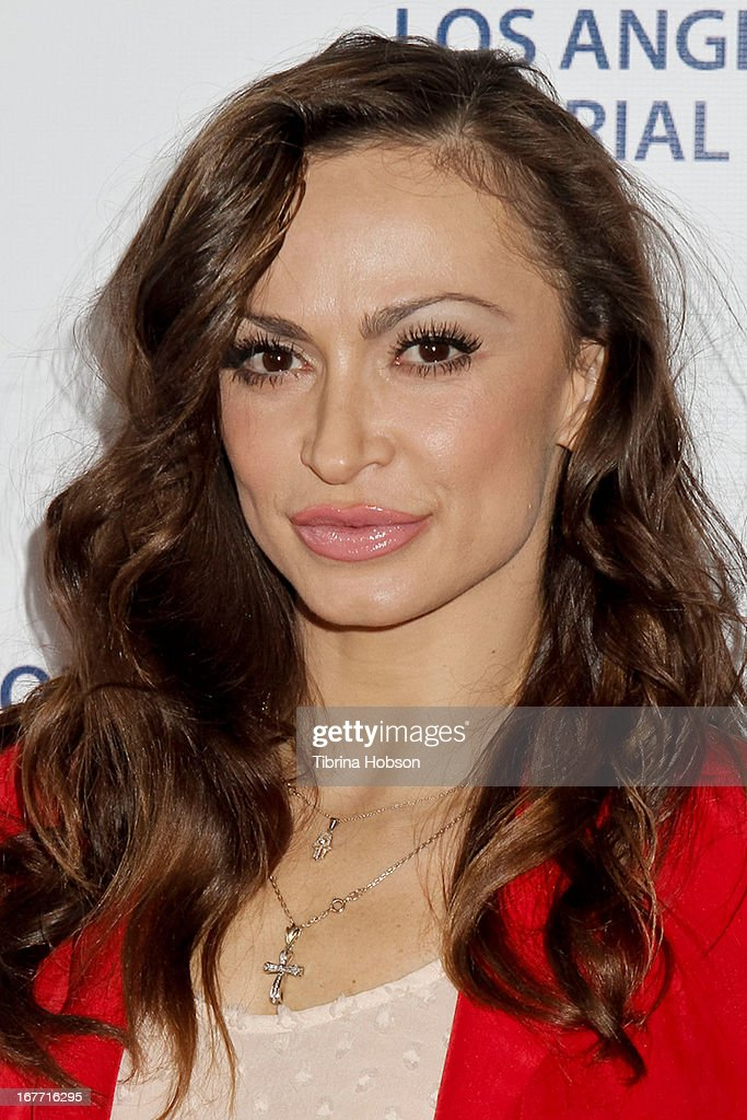 Karina Smirnoff attends the Los Angeles Police Memorial Foundation's celebrity poker tournament at Saban Theatre on April 27, 2013 in Beverly Hills, California.