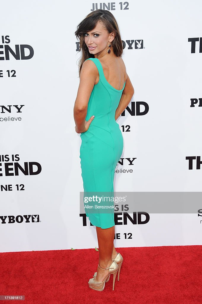 Karina Smirnoff attends the premiere of Columbia Pictures' 'This Is The End' at Regency Village Theatre on June 3, 2013 in Westwood, California.