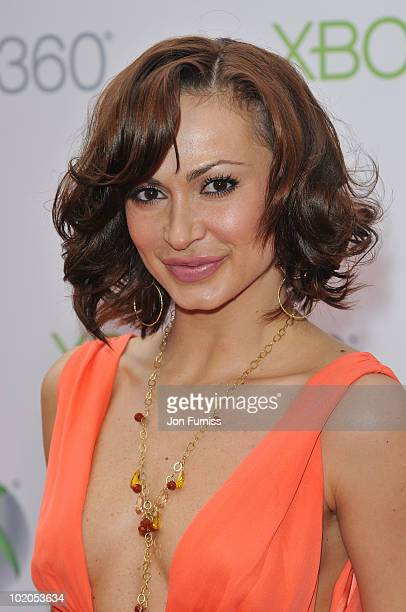 Karina Smirnoff attends the world premiere of Kinect for Xbox 360 in LA where Cirque du Soleil performed an exclusive show at Galen Center on June 13...