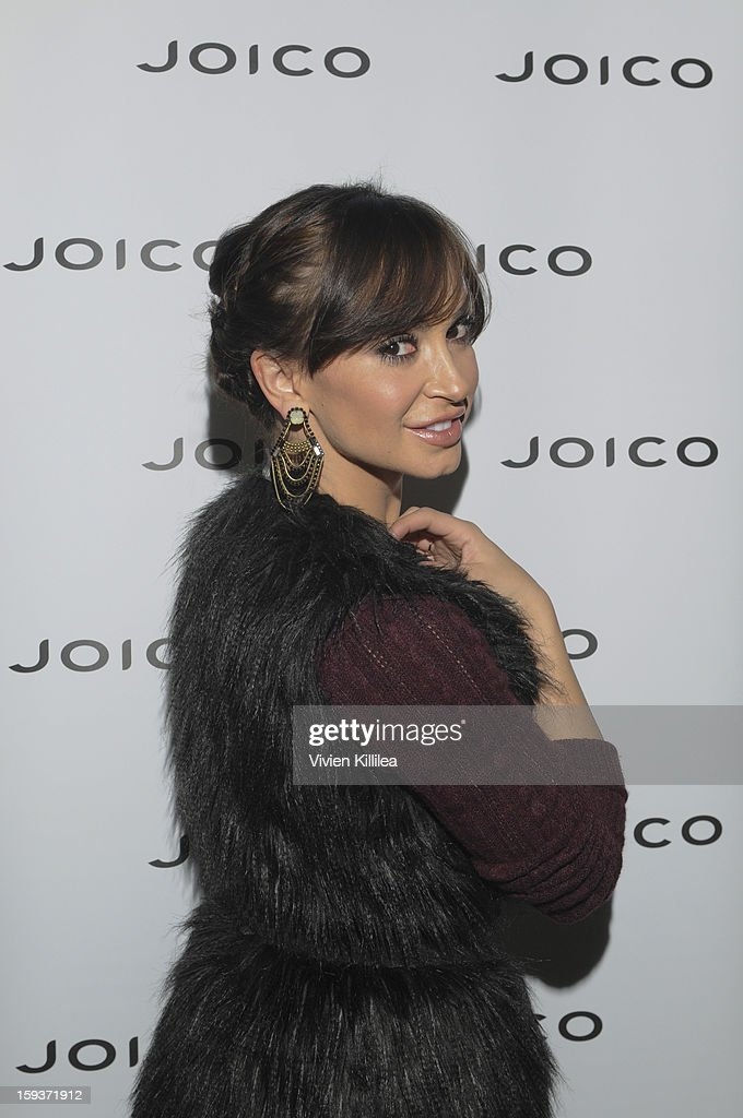 Karina Smirnoff attends Turning Heads With Joico Hair Care At Colgate's Pre Golden Globe Beauty Bar on January 12, 2013 in West Hollywood, California.