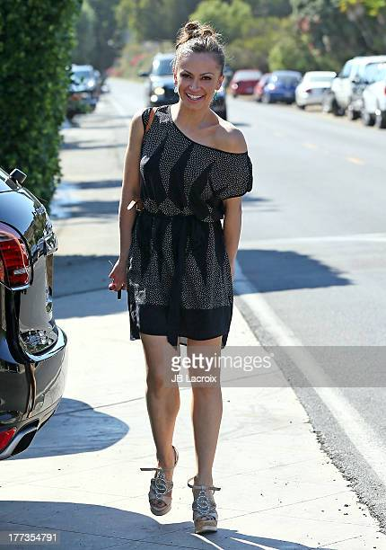 Karina Smirnoff is seen in Malibu on August 22 2013 in Los Angeles California