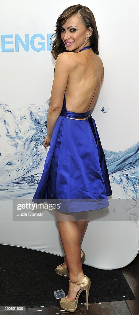 Karina Smirnoff, of ÒDancing With The StarsÓ fame attends The Aquafina 'Pure Challenge' at The Empire Hotel Rooftop on February 6, 2013 in New York City.