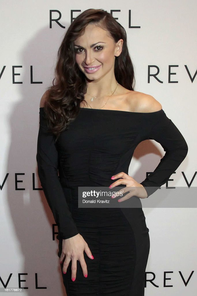 Karina Smirnoff poses for photographs at her Valentine's Fan Meet And Greet at Revel Casino on February 15, 2013 in Atlantic City, New Jersey.