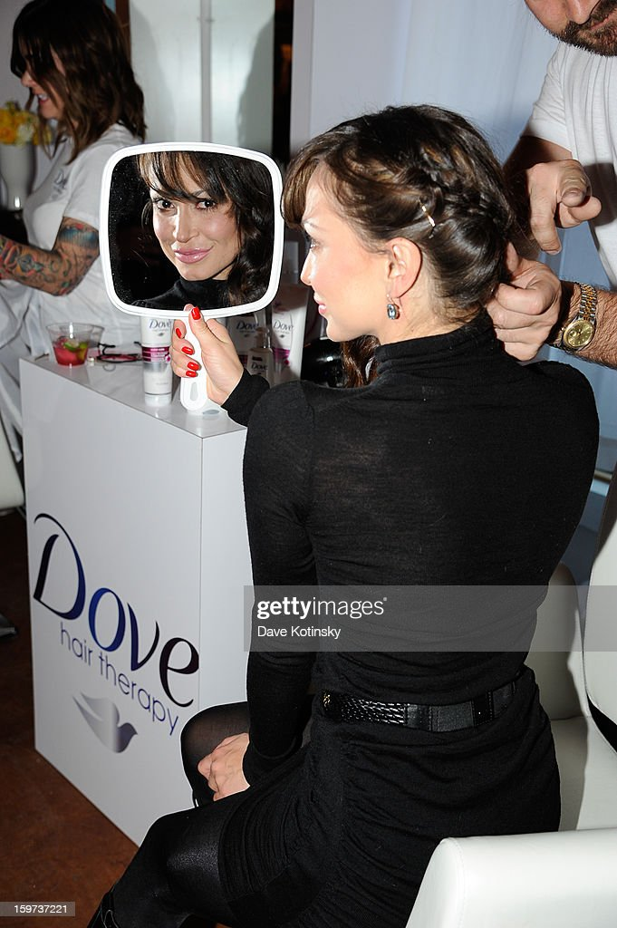Karina Smirnoff stops by the Dove Color Care Salon on January 19, 2013 in Park City, Utah.