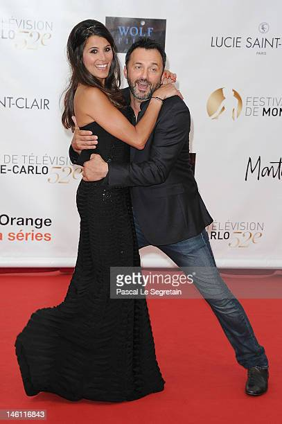Karine Ferri and Frederic Lopez arrive at the opening ceremony of the 2012 Monte Carlo Television Festival held at Grimaldi Forum on June 10 2012 in...