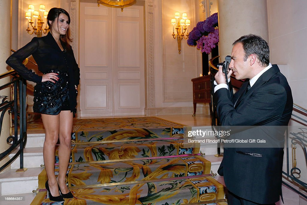 <a gi-track='captionPersonalityLinkClicked' href=/galleries/search?phrase=Karine+Ferri&family=editorial&specificpeople=4532443 ng-click='$event.stopPropagation()'>Karine Ferri</a> and <a gi-track='captionPersonalityLinkClicked' href=/galleries/search?phrase=Nikos+Aliagas&family=editorial&specificpeople=573643 ng-click='$event.stopPropagation()'>Nikos Aliagas</a> attend 'Global Gift Gala' at Hotel George V on May 13, 2013 in Paris, France.
