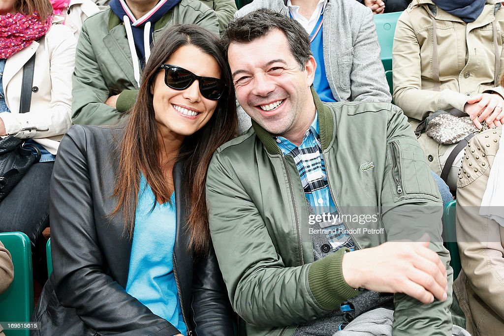 <a gi-track='captionPersonalityLinkClicked' href=/galleries/search?phrase=Karine+Ferri&family=editorial&specificpeople=4532443 ng-click='$event.stopPropagation()'>Karine Ferri</a> and Stephane Plaza attend Roland Garros Tennis French Open 2013 - Day 1 on May 26, 2013 in Paris, France.