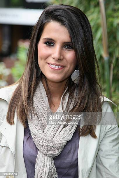 Karine Ferri arrives at 'Le Village' during the 2009 French Tennis Open at Roland Garros arena on May 28 2009 in Paris France