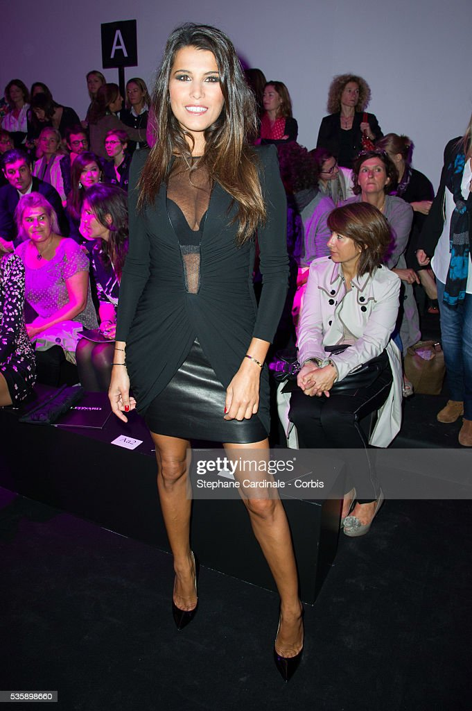 Karine Ferri attends Leonard show, as part of the Paris Fashion Week Womenswear Spring/Summer 2014, in Paris.