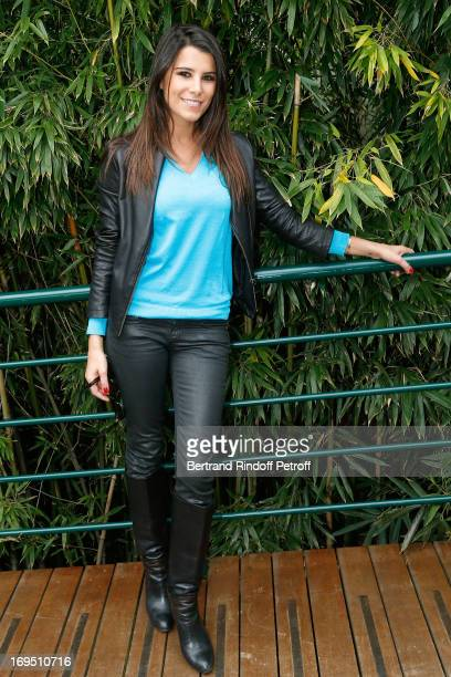 Karine Ferri attends Roland Garros Tennis French Open 2013 Day 1 on May 26 2013 in Paris France