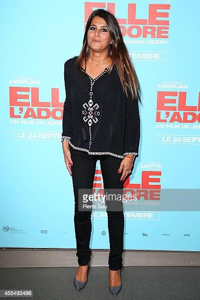 Karine Ferri attends the 'Elle Adore' Paris Premiere at Cinema UGC Normandie on September 15 2014 in Paris France