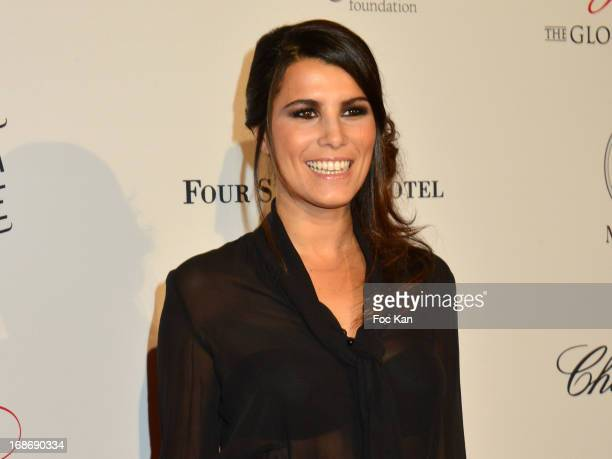 Karine Ferri attends the Eva Longoria Presents 'Global Gift Gala' 2013 Photocall at the Hotel Four Season GeorgesV on May 13 2013 in Paris France