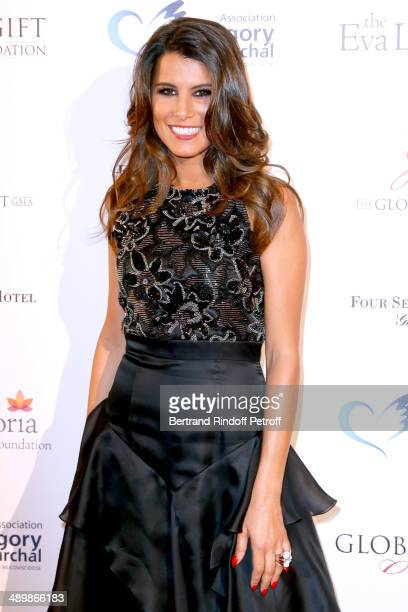 Karine Ferri attends the 'Global Gift Gala' 2014 Charity Dinner at the Four Seasons Hotel on May 12 2014 in Paris France