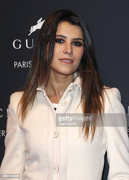 Karine Ferri attends the Gucci Grand Prix CSI5 on day 4 of the Gucci Paris Masters 2014 at Parc des Expositions on December 7 2014 in Villepinte...