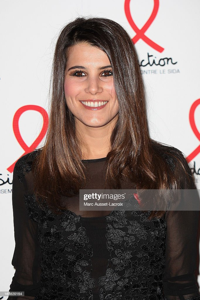Karine Ferri poses during the Sidaction 2013 - Photocall at Musee du Quai Branly on March 11, 2013 in Paris, France.