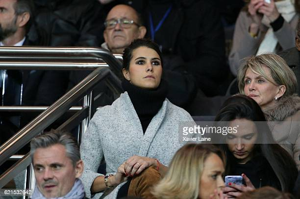 Karine Ferri wife of Yoann Gourcuff of Stade de Rennes attends the French Ligue 1 match between Paris SaintGermain and Stade Rennes FC at Parc des...