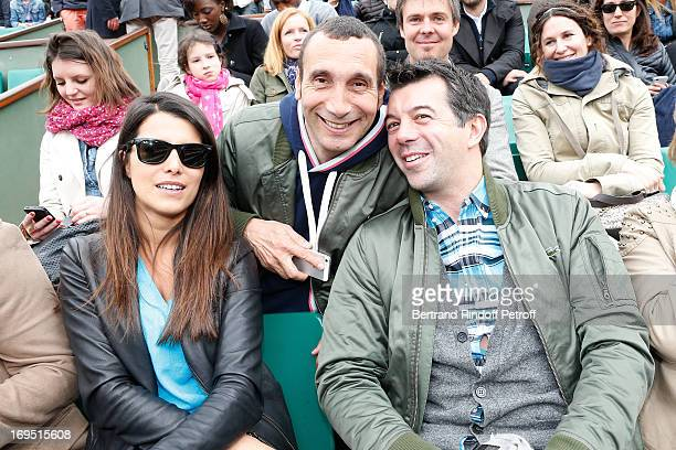 Karine Ferri Zinedine Soualem and Stephane Plaza attend Roland Garros Tennis French Open 2013 Day 1 on May 26 2013 in Paris France