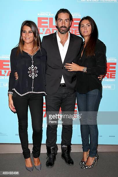 Karine FerriRobert Pires and his wife Jessica Lemarie attend the 'Elle Adore' Paris Premiere at Cinema UGC Normandie on September 15 2014 in Paris...