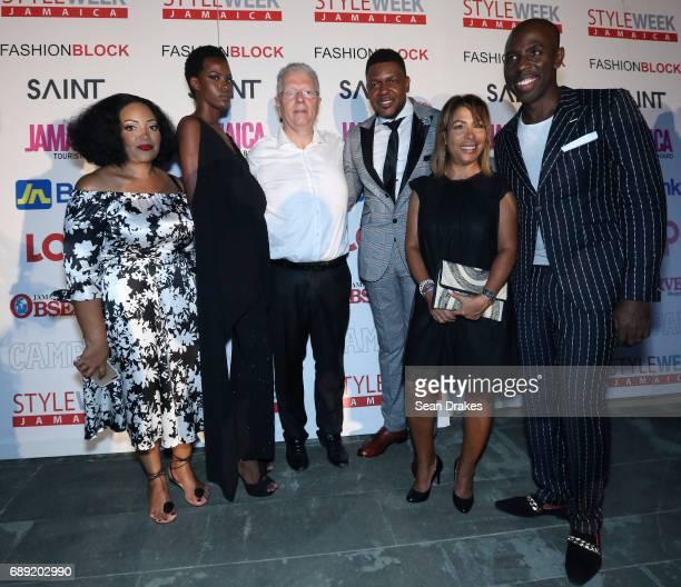 Karine Gatibelza Jenese Roper French Ambassador Jean Michel Despax with wife Line Despax designer Rick Bailey SAINT International CEO Dwight Peters...