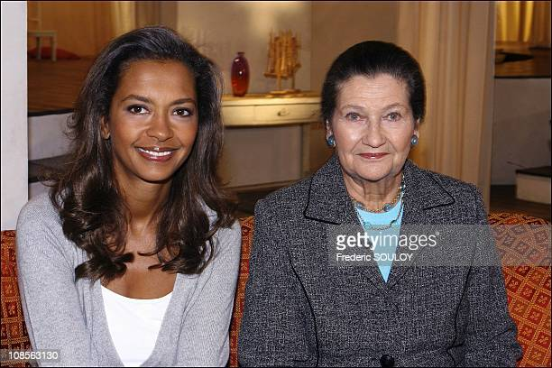 Karine Le MArchand and Simone Veil in Paris France on January 23 2007