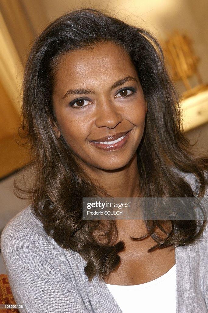 Karine le Marchand on the set of tv show 39; Les Maternelles39; in Paris