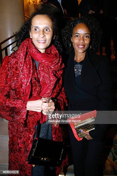 Karine Silla Perez and her sister Virginie Silla attend the 'Daniel Toscan du Plantier Producer's Price Cesar Film Awards 2015' Held at Hotel George...