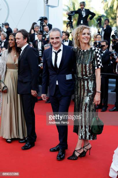 Karine Silla Vincent Perez director Olivier Assayas and Delphine de Vigan attend the 'Based On A True Story' screening during the 70th annual Cannes...